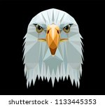 low poly triangular  bald eagle ... | Shutterstock .eps vector #1133445353