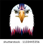 low poly triangular  bald eagle ... | Shutterstock .eps vector #1133445356