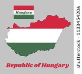 map outline and flag of hungary ... | Shutterstock .eps vector #1133454206