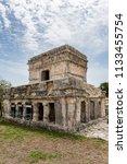 the tulum ruins in the riviera...   Shutterstock . vector #1133455754