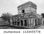 the tulum ruins in the riviera...   Shutterstock . vector #1133455778