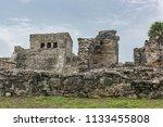 the tulum ruins in the riviera...   Shutterstock . vector #1133455808