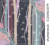scarf design with flowers... | Shutterstock .eps vector #1133461079