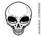 Illustration Of Alien Skull...