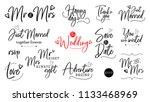 wedding quote. script lettering ... | Shutterstock . vector #1133468969