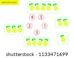 counting game for preschool... | Shutterstock .eps vector #1133471699