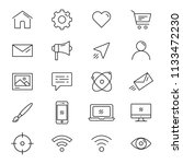 different line web icons set ...