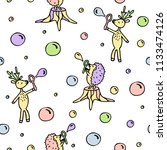hand drawn seamless pattern of... | Shutterstock .eps vector #1133474126