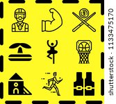 simple 9 icon set of sport... | Shutterstock .eps vector #1133475170