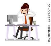 cartoon illustration   shocked... | Shutterstock .eps vector #1133477420