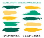 artistic label brush stroke... | Shutterstock .eps vector #1133485556