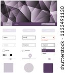 light purple vector wireframe...