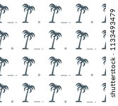 seamless pattern with palm... | Shutterstock .eps vector #1133493479