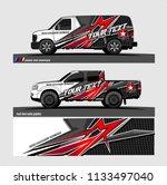 car decal  truck and cargo van...   Shutterstock .eps vector #1133497040