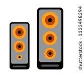 music sound icon   bass... | Shutterstock .eps vector #1133498294