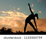 yoga practicing emotional... | Shutterstock . vector #1133504759