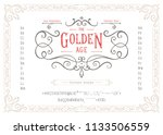 the golden age   textured... | Shutterstock .eps vector #1133506559