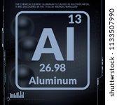 aluminum symbol.chemical... | Shutterstock .eps vector #1133507990