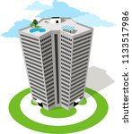 high rise luxury condo building ... | Shutterstock .eps vector #1133517986