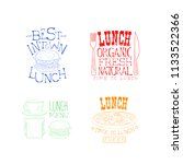 creative hand drawn lunch logos.... | Shutterstock .eps vector #1133522366