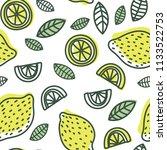 lemon slice seamless pattern....   Shutterstock .eps vector #1133522753