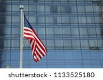 american flag waving in a... | Shutterstock . vector #1133525180