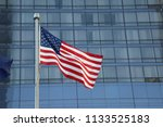 american flag waving in a... | Shutterstock . vector #1133525183