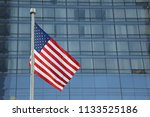american flag waving in a... | Shutterstock . vector #1133525186