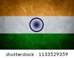indian flag painted on wall for ...   Shutterstock . vector #1133529359