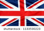 closeup of union jack flag  | Shutterstock . vector #1133530223