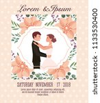 couple wedding card | Shutterstock .eps vector #1133530400