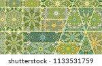 vector patchwork quilt pattern. ...   Shutterstock .eps vector #1133531759