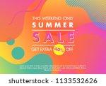 summer sale banner.unique... | Shutterstock .eps vector #1133532626