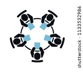 meeting vector icon. group of... | Shutterstock .eps vector #1133532986