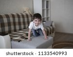 toddler child happy on the... | Shutterstock . vector #1133540993