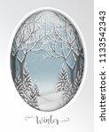 merry christmas greetings card... | Shutterstock .eps vector #1133542343
