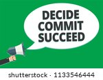 handwriting text decide commit... | Shutterstock . vector #1133546444