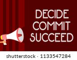 handwriting text decide commit... | Shutterstock . vector #1133547284