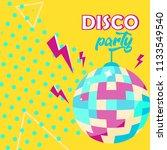 vector illustration. disco ball ... | Shutterstock .eps vector #1133549540