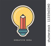 creative idea sticker. thin... | Shutterstock .eps vector #1133560340