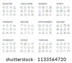 collection of linear icons.... | Shutterstock .eps vector #1133564720