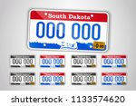 set north dakota auto license... | Shutterstock .eps vector #1133574620