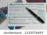 new form 1040 simplified for... | Shutterstock . vector #1133576693