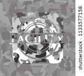 facility grey camouflage emblem   Shutterstock .eps vector #1133577158