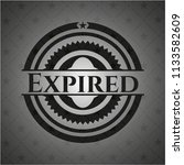 expired black badge | Shutterstock .eps vector #1133582609