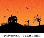halloween background...   Shutterstock . vector #1133584883