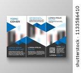 tri fold business brochure...   Shutterstock .eps vector #1133586410