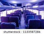 interior bus travel. | Shutterstock . vector #1133587286