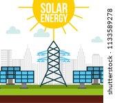 green energy alternative | Shutterstock .eps vector #1133589278