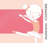 beautiful ballerina dancing... | Shutterstock .eps vector #1133594306